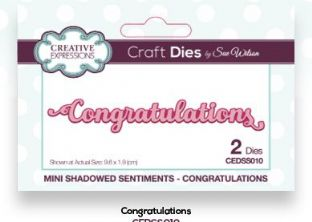 Mini Shadowed Sentiments Collection - Congratulations